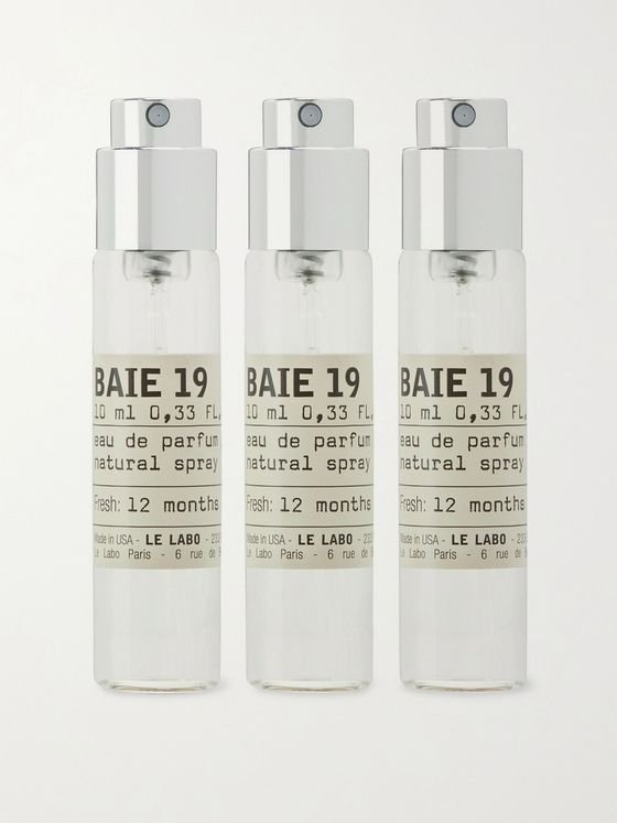Le Labo Baie 19 Eau de Parfum Travel Tube Refills, 3 x 10ml
