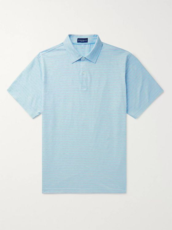 Peter Millar Solstice Striped Cotton and Linen-Blend Jersey Polo Shirt