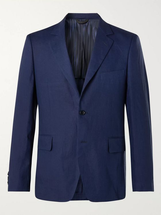 MP Massimo Piombo Linen Suit Jacket