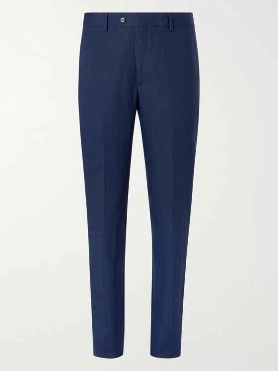 MP Massimo Piombo Linen Suit Trousers