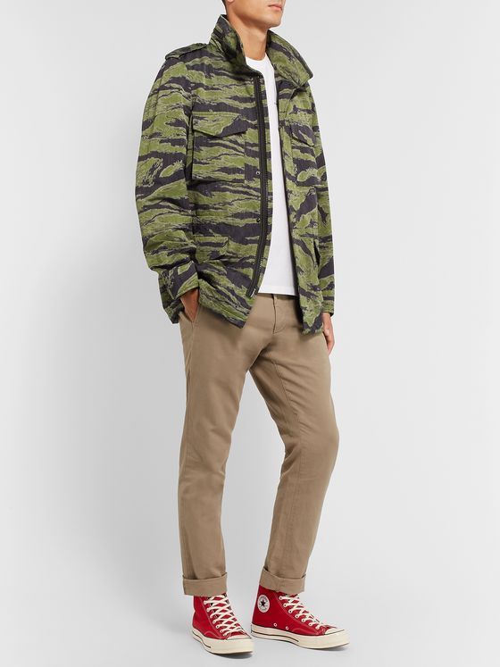 Aspesi Icon 2 Camouflage-Print Cotton-Blend Twill Field Jacket