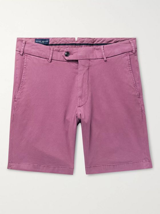 Peter Millar Wayfare Slim-Fit Stretch Tencel and Cotton-Blend Twill Shorts