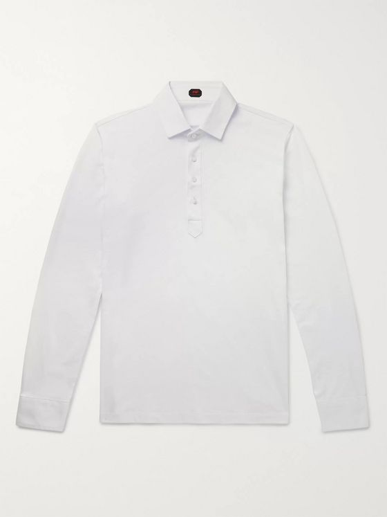 MP Massimo Piombo Cotton-Jersey Polo Shirt