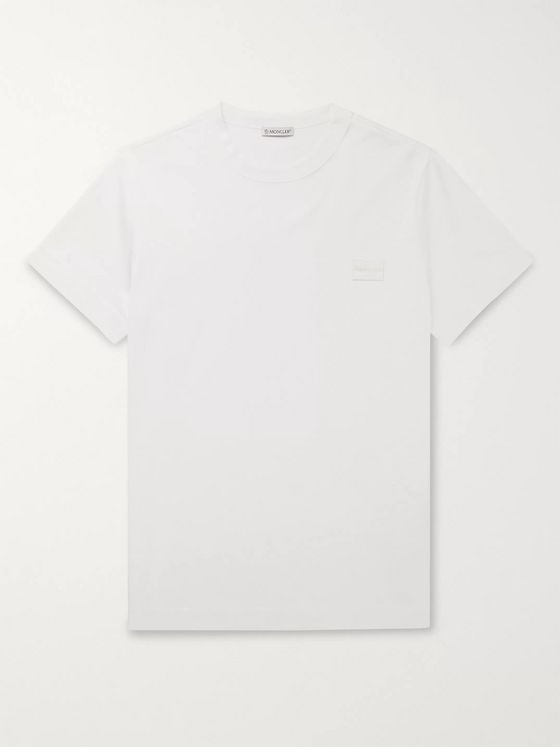 Moncler Logo-Appliquéd Cotton-Jersey T-Shirt