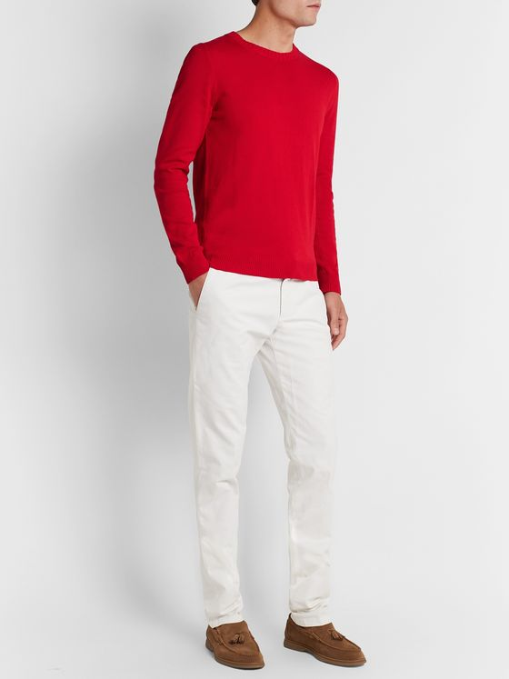 MP Massimo Piombo Slim-Fit Cotton Sweater