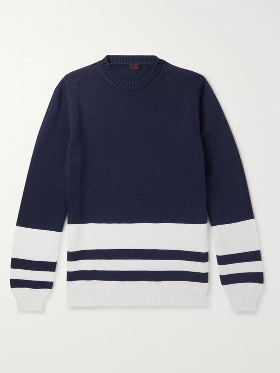 MP Massimo Piombo Striped Cotton Sweater