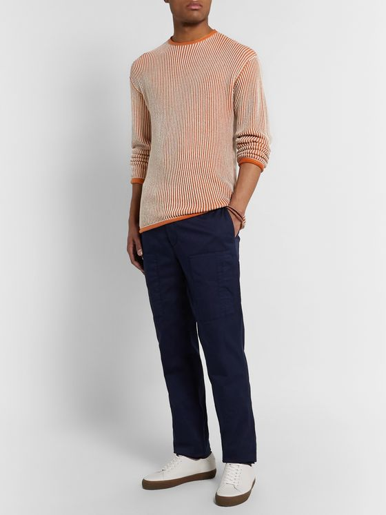 Sease Ketch Slim-Fit Ribbed Cotton Sweater