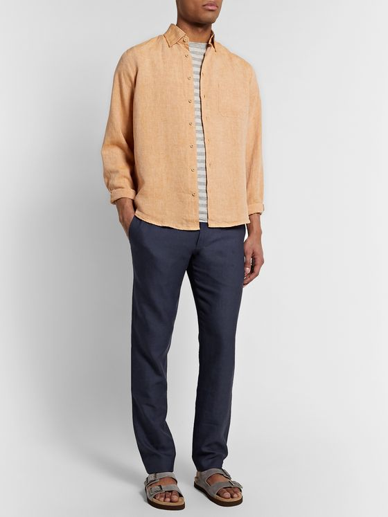 Sease Sunset Linen and Virgin Wool-Blend Drawstring Trousers