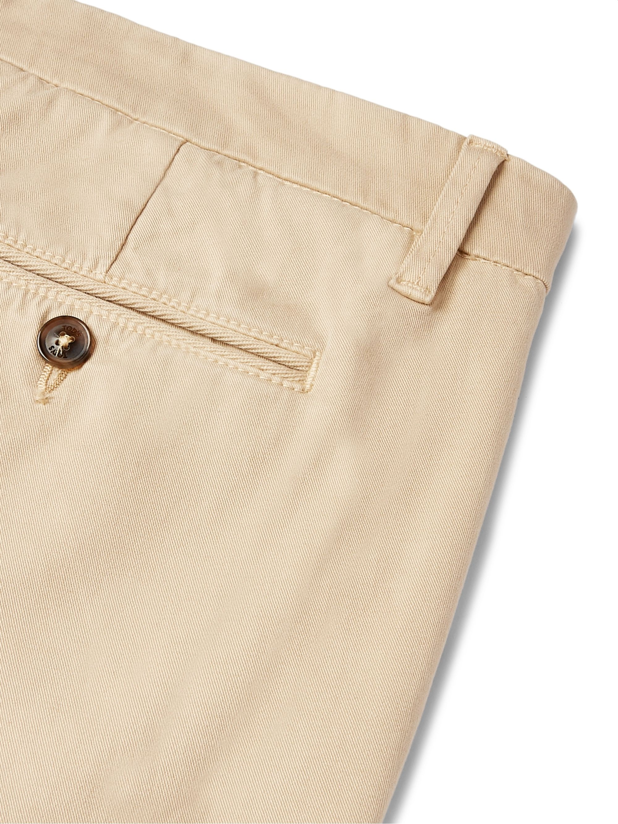 Tod's Slim-Fit Stretch-Cotton Twill Chinos