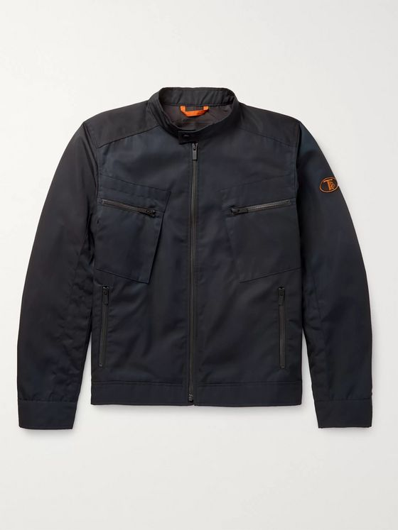 Tod's Slim-Fit Shell Biker Jacket