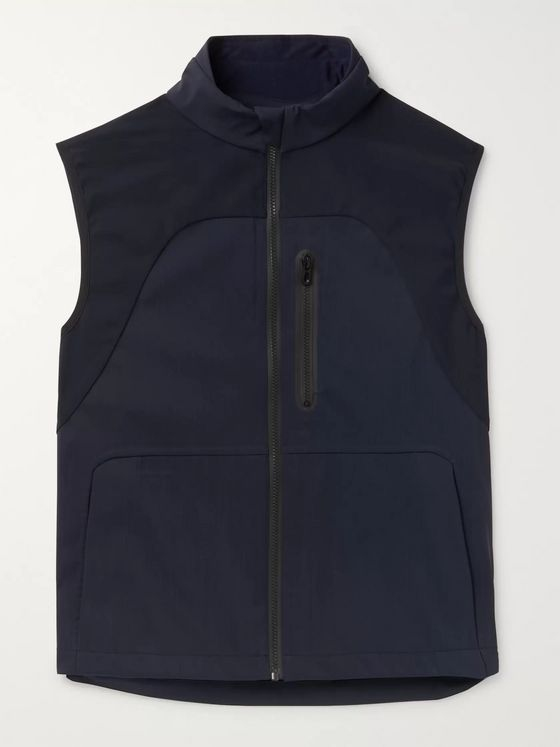 Sease V-8 Slim-Fit Panelled Virgin Wool-Blend and Stretch-Nylon Gilet