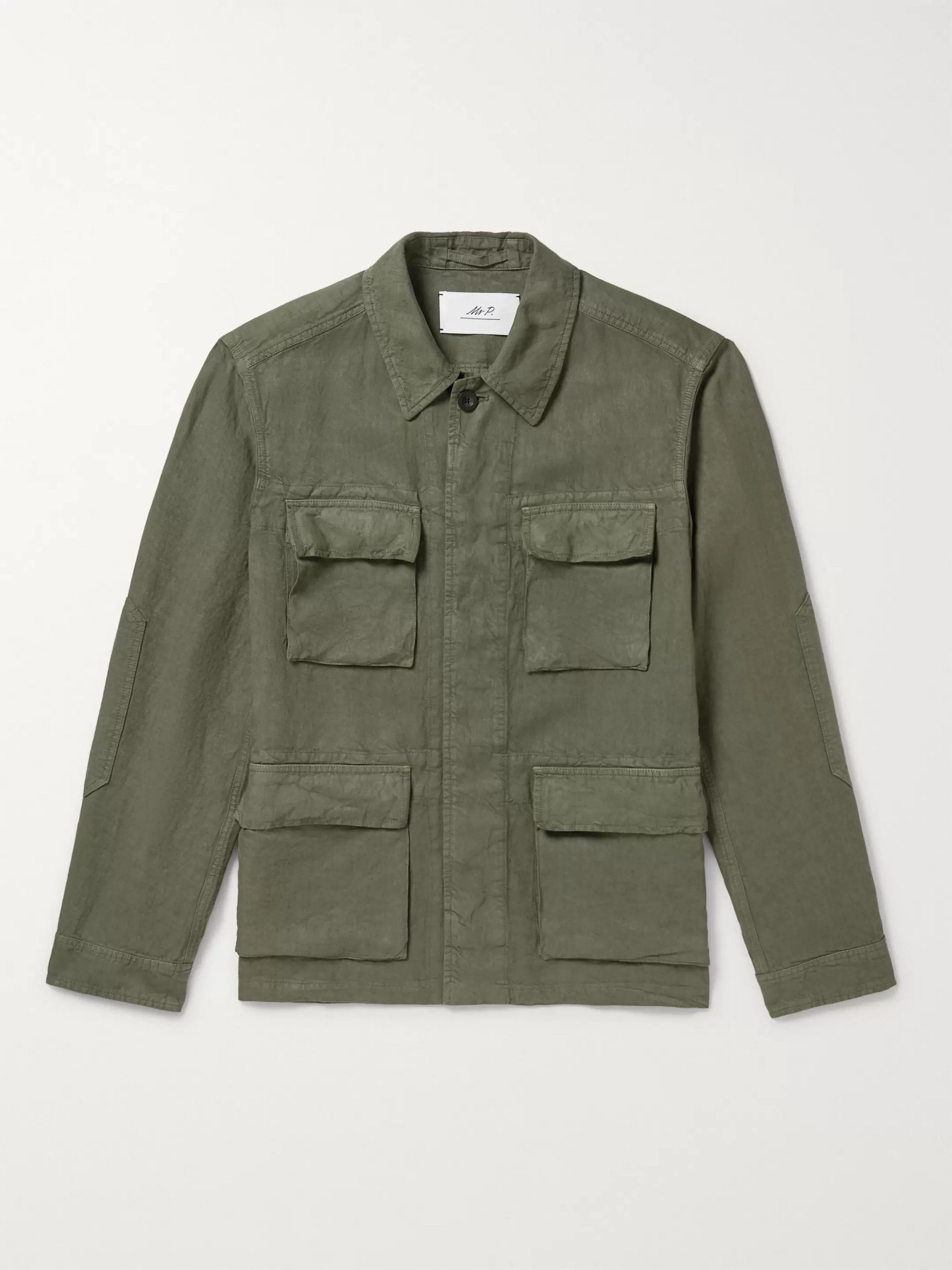 Mr P. Garment-Dyed Linen Overshirt