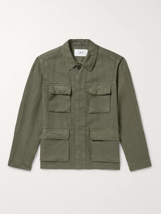 Mr P. Garment-Dyed Linen Field Jacket