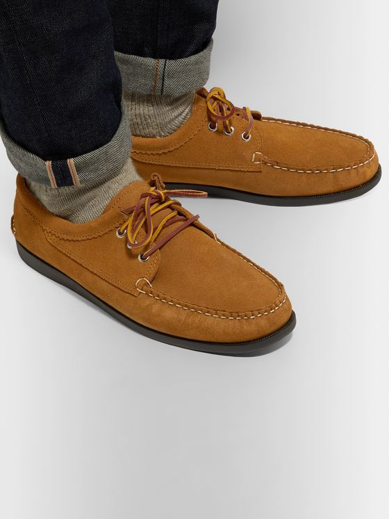 Quoddy Blucher Suede Boat Shoes