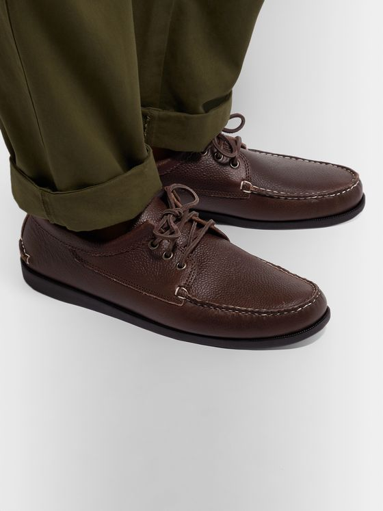 Quoddy Blucher Leather Boat Shoes