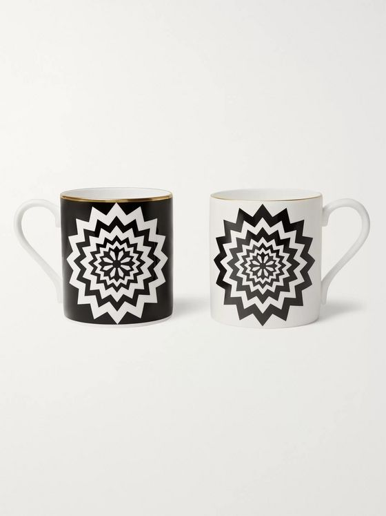 The Wolseley Collection + Halcyon Days Set of Two Printed Fine Bone China Mugs