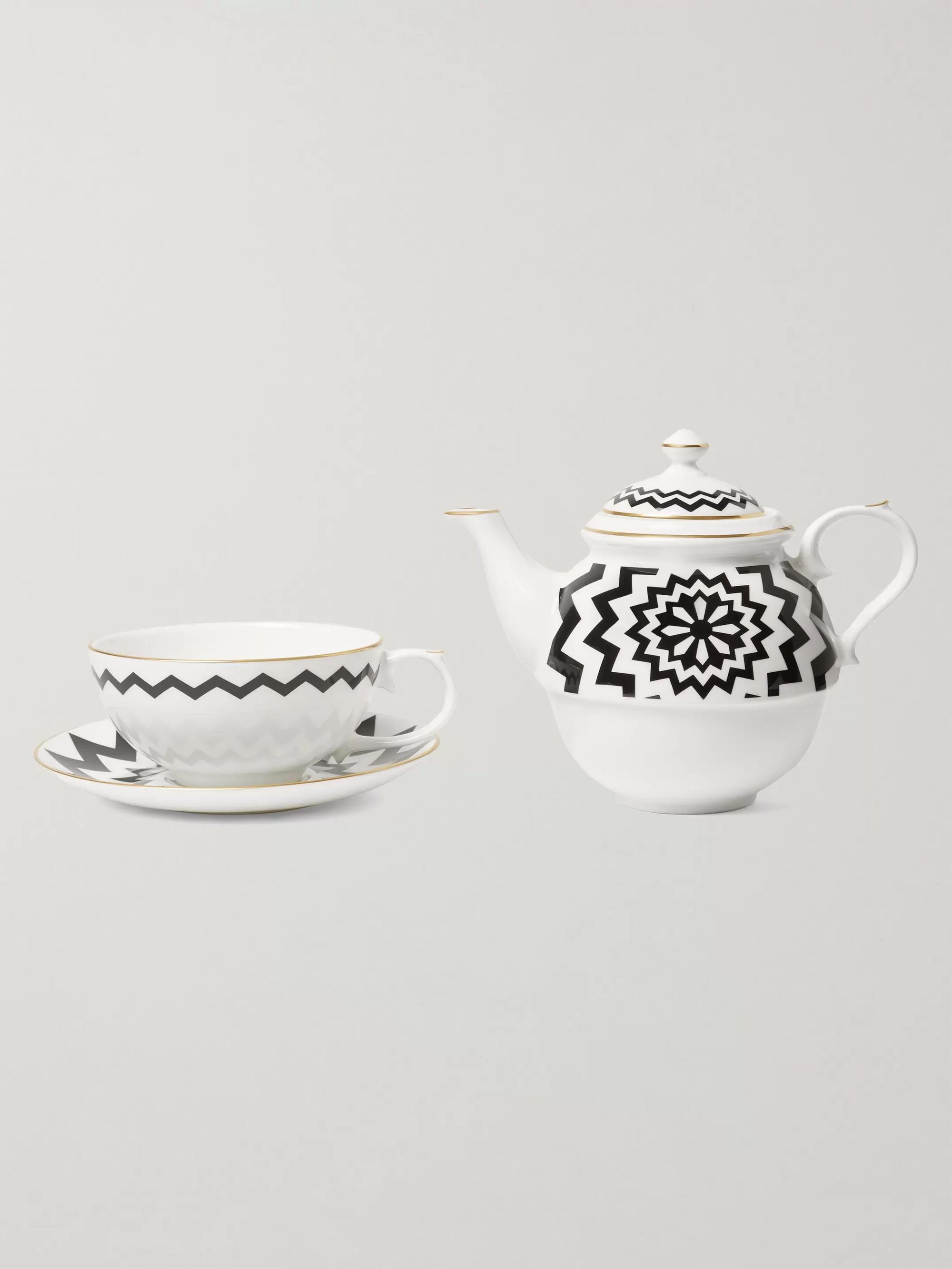 The Wolseley Collection + Halcyon Days Printed Fine Bone China Tea Set