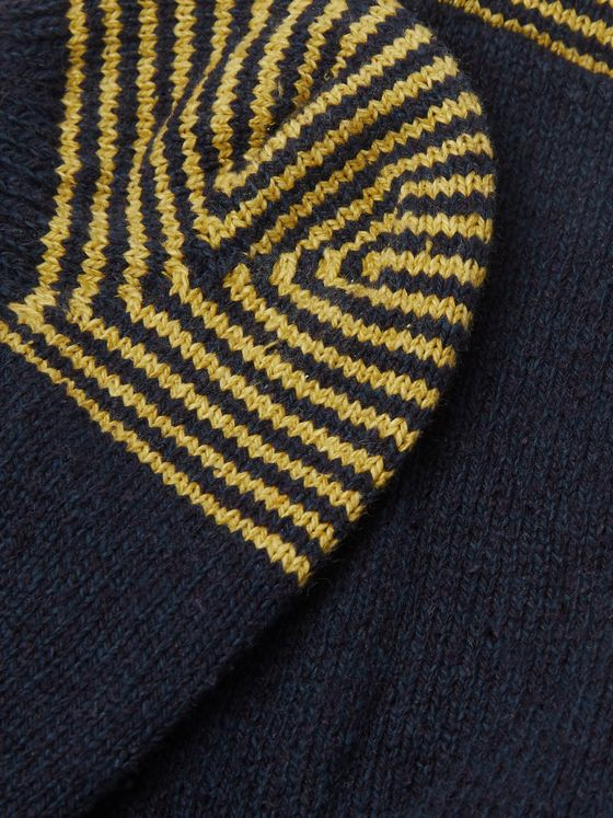 Anonymous Ism Striped Knitted No-Show Socks
