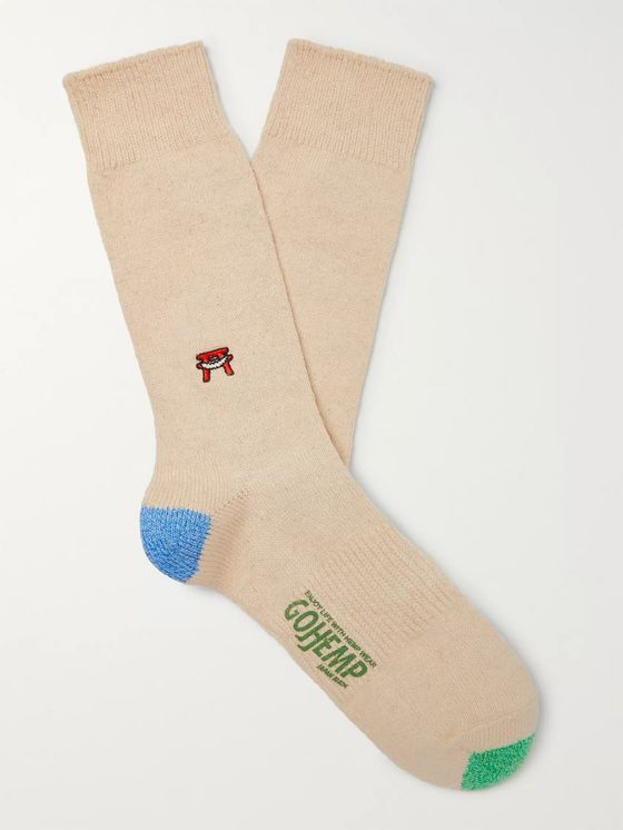 Anonymous Ism Embroidered Knitted Socks
