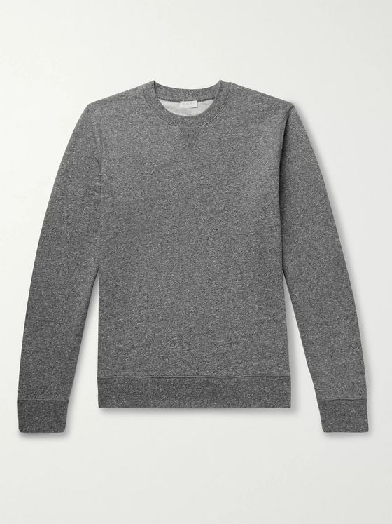 Sunspel Mélange Loopback Cotton-Jersey Sweatshirt