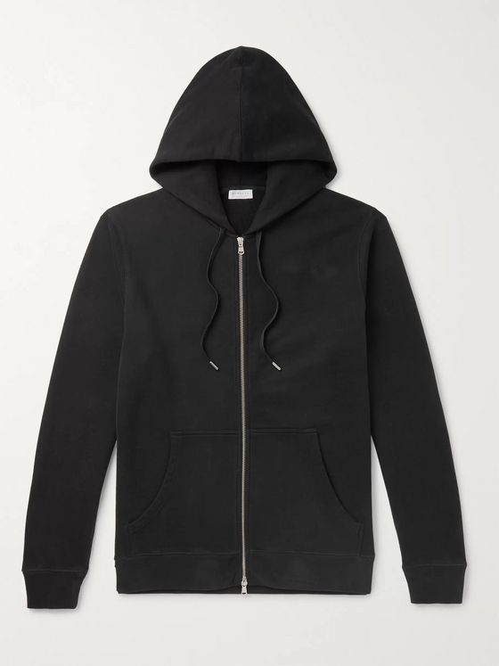 Sunspel Loopback Cotton-Jersey Zip-Up Hoodie