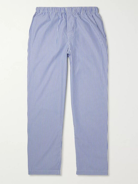 Sunspel Striped Cotton-Poplin Pyjama Trousers
