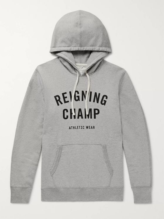 Reigning Champ Logo-Print Loopback Cotton-Jersey Hoodie