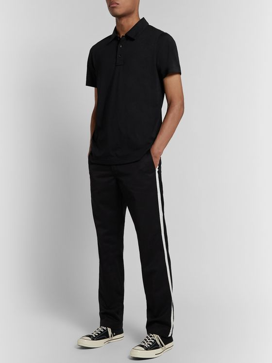 Reigning Champ Pima Cotton-Jersey Polo Shirt