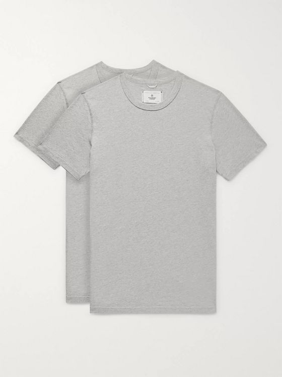 Reigning Champ Two-Pack Mélange Pima Cotton-Jersey T-Shirts