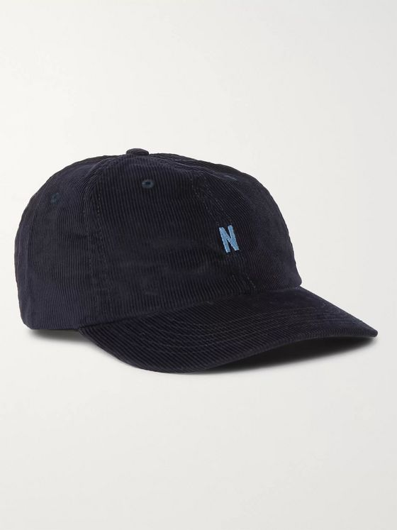 Norse Projects Logo-Embroidered Cotton-Corduroy Baseball Cap