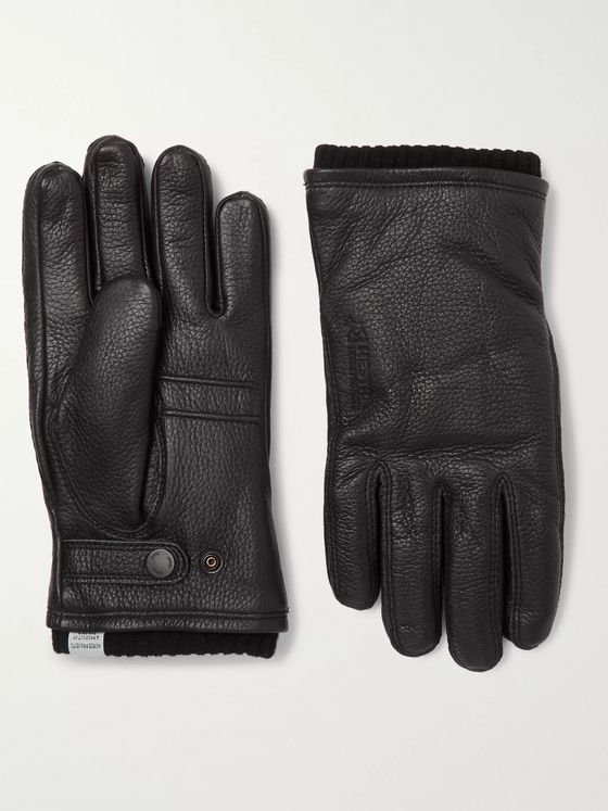 Norse Projects + Hestra Utsjo Wool Blend-Lined Full-Grain Leather Gloves