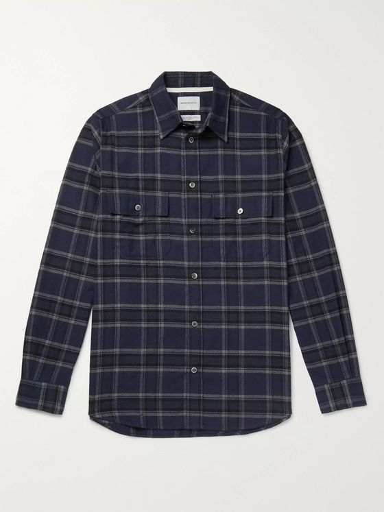 Norse Projects Checked Cotton-Flannel Shirt