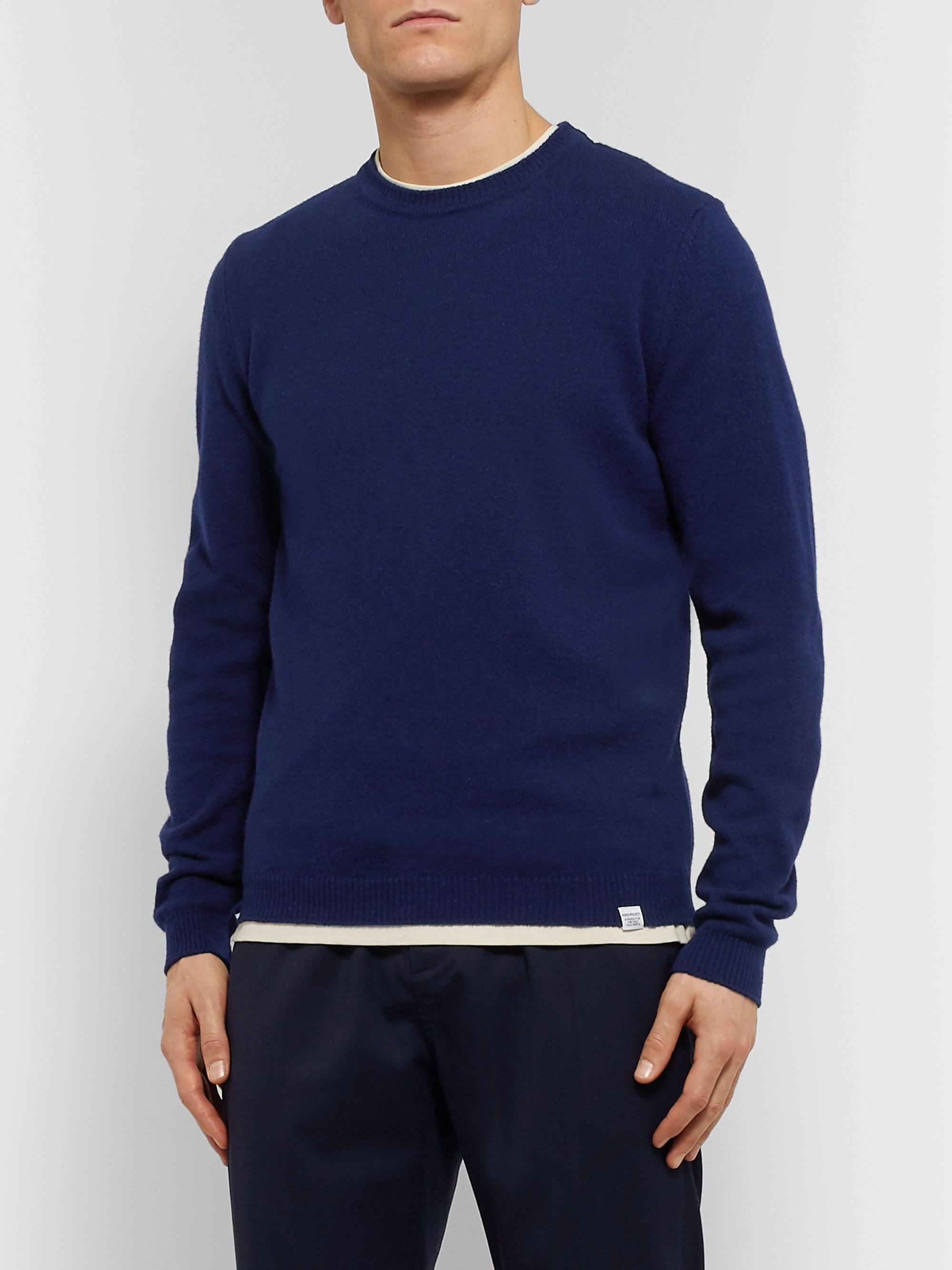 Norse Projects Sigfred Mélange Brushed-Wool Sweater