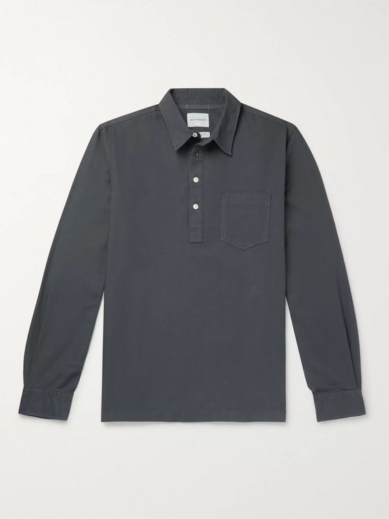 Norse Projects Oscar Cotton Oxford Half-Placket Shirt