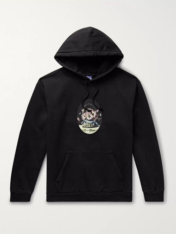Noon Goons Printed Fleece-Back Cotton-Jersey Hoodie