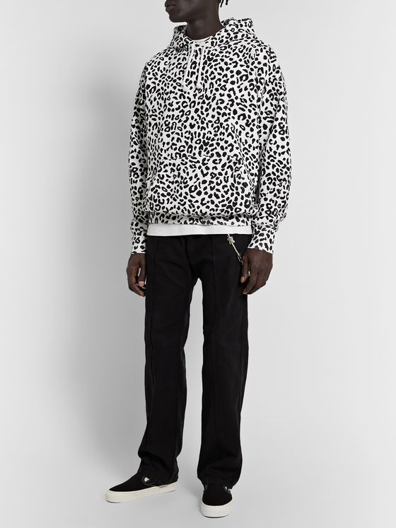 Noon Goons Leopard-Print Fleece-Back Cotton-Jersey Hoodie
