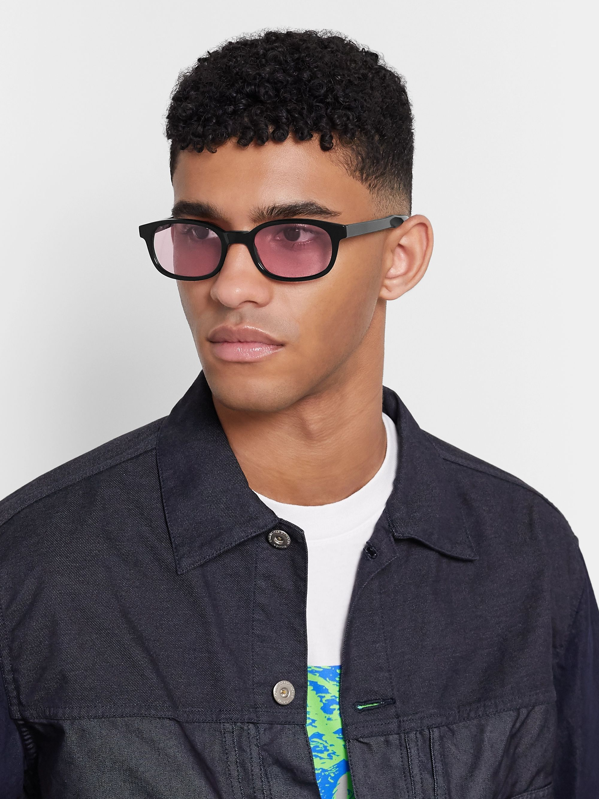 Noon Goons Unibase Oval-Frame Acetate Sunglasses