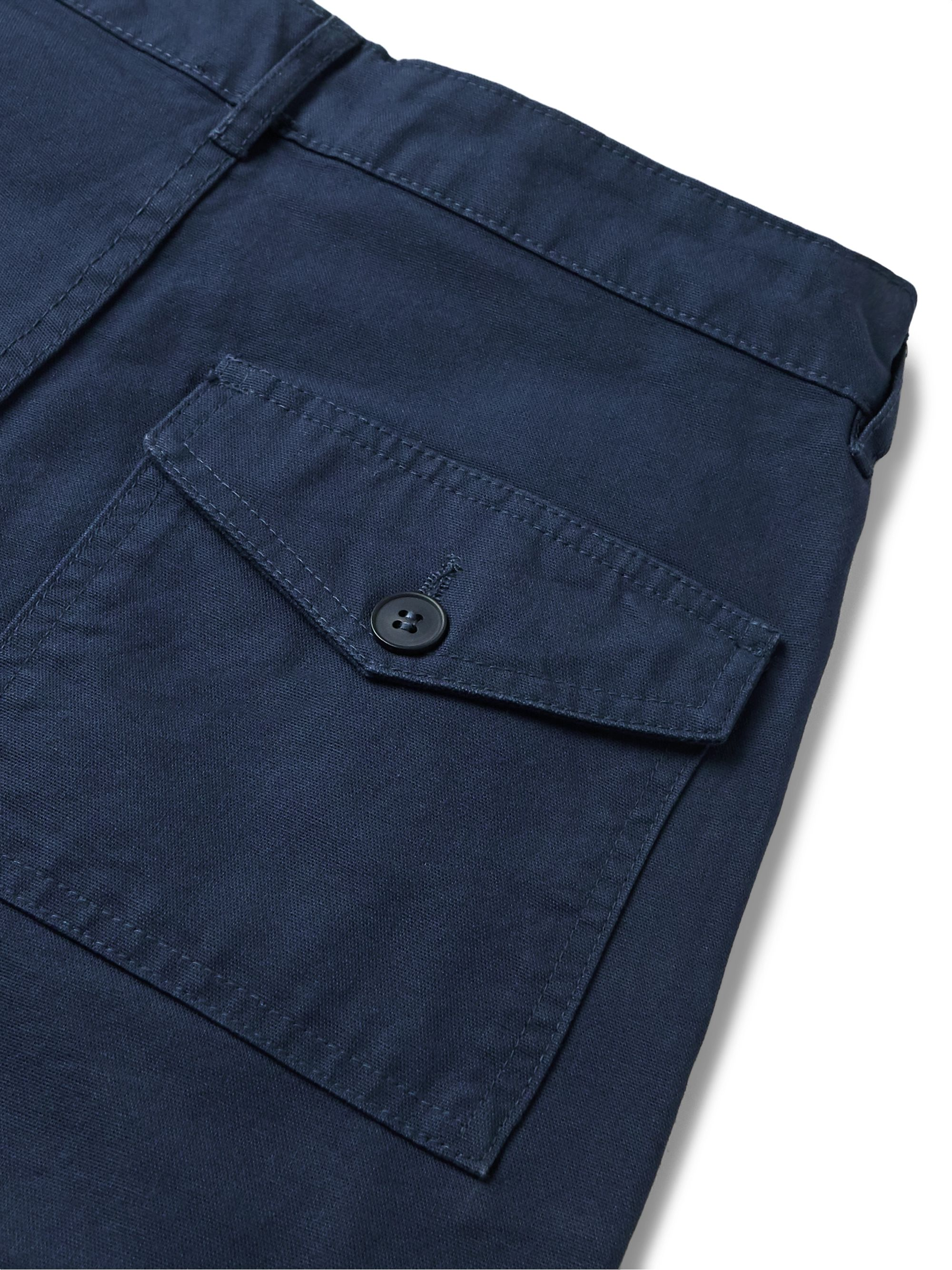 Armor Lux Navy Cotton Trousers