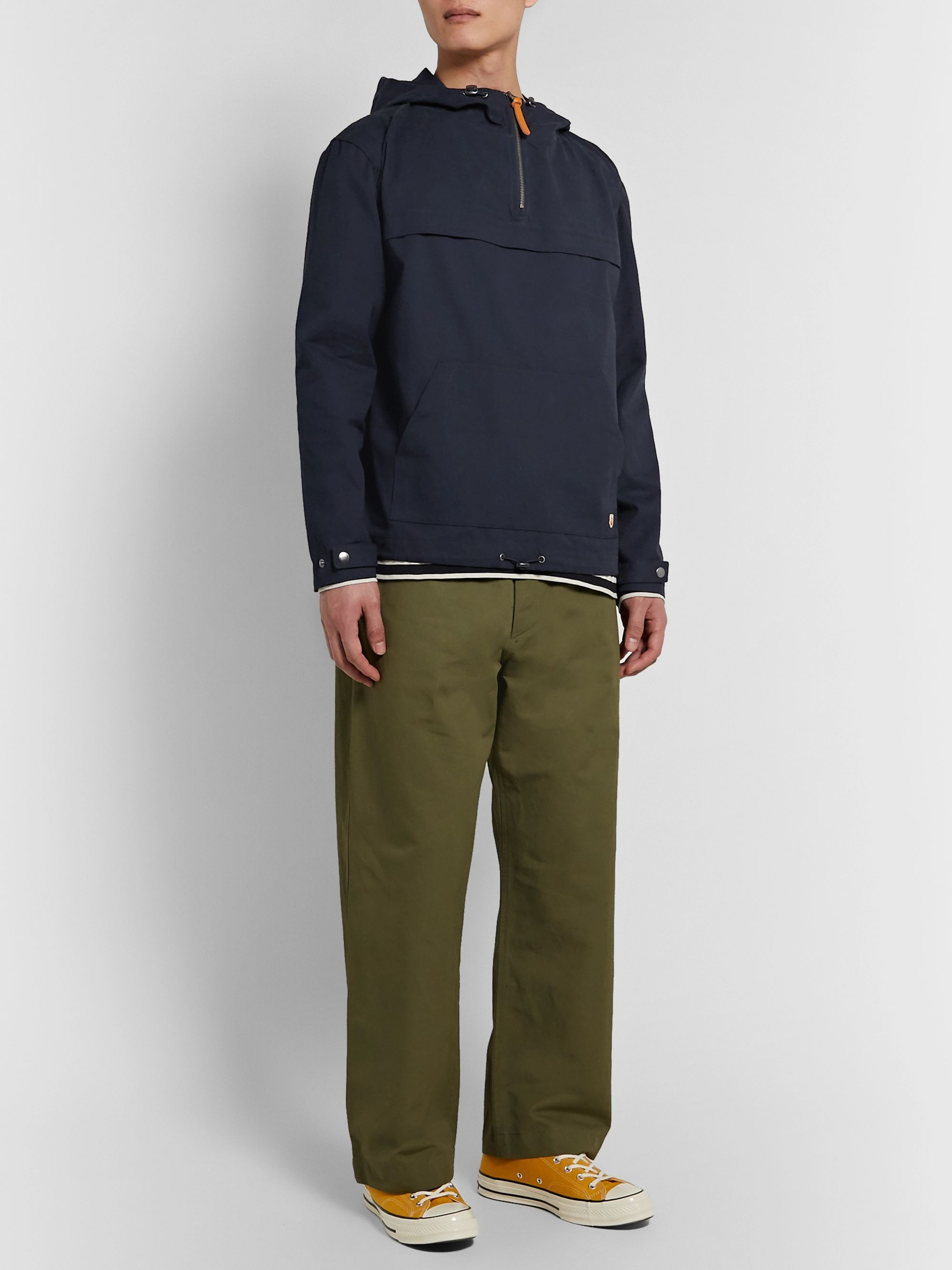 Armor Lux Cotton Oxford Hooded Jacket