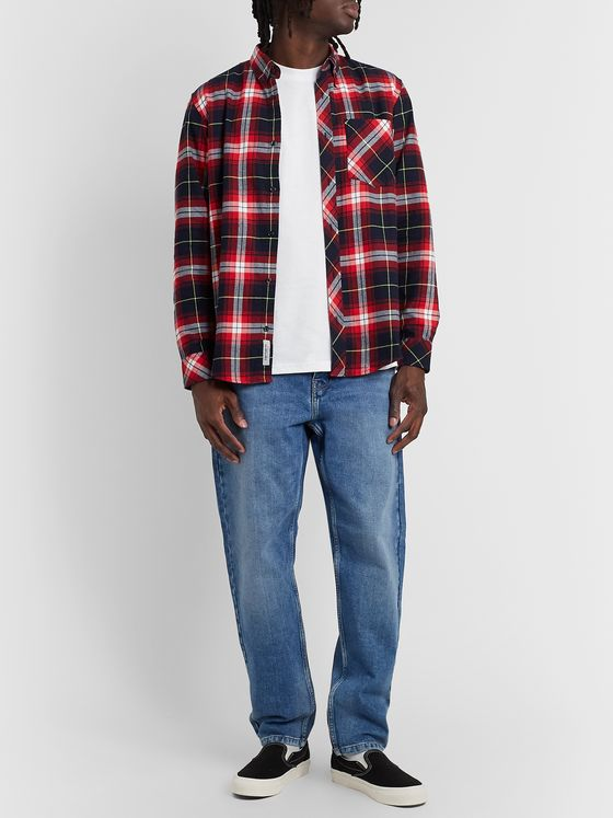 Carhartt WIP Phil Button-Down Collar Checked Cotton-Flannel Shirt