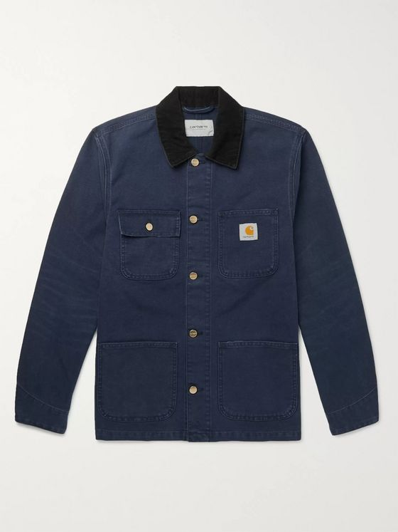 Carhartt WIP Michigan Corduroy-Trimmed Cotton-Canvas Chore Jacket