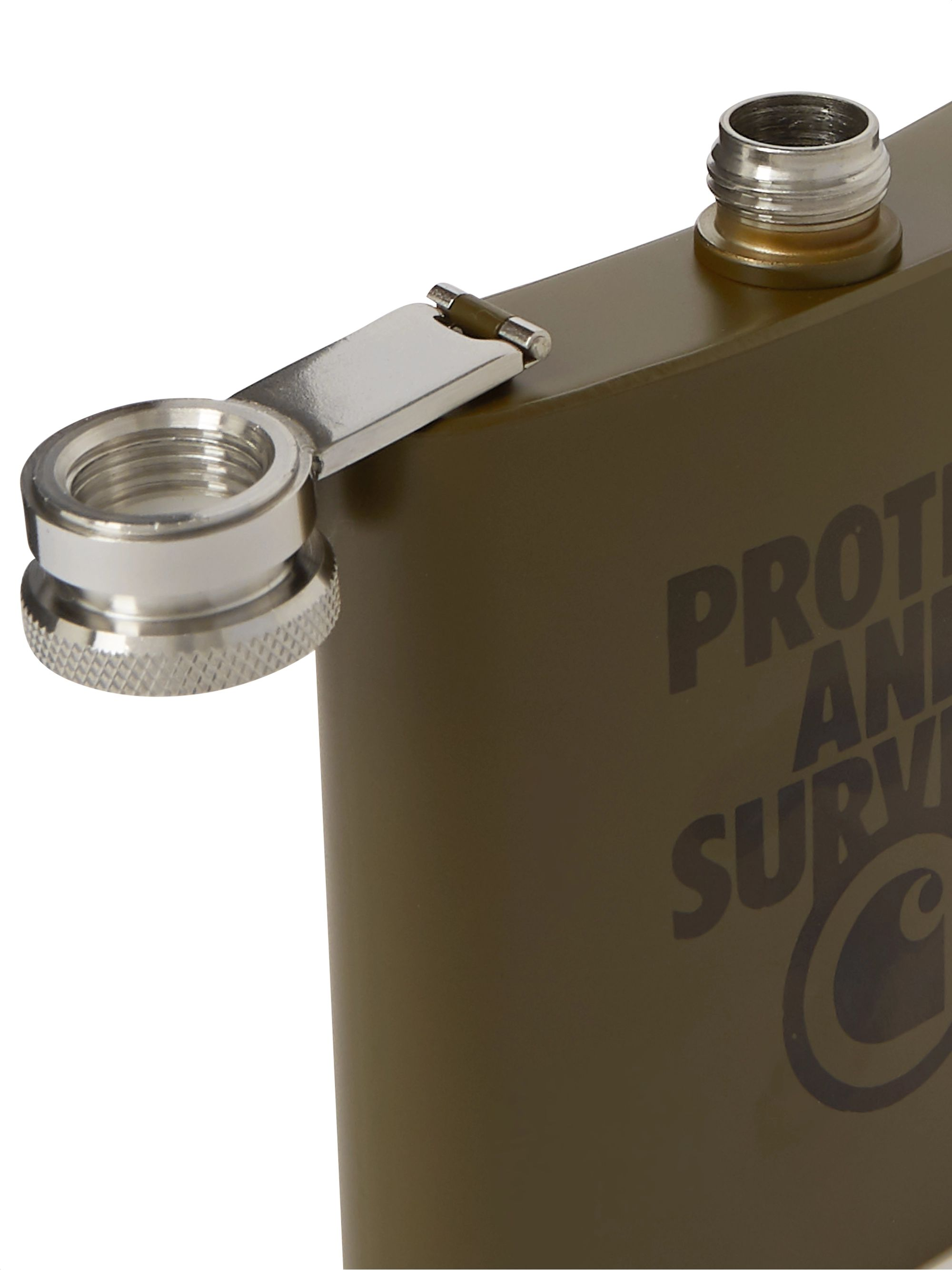 Carhartt WIP 7oz Printed Stainless Steel Hip Flask