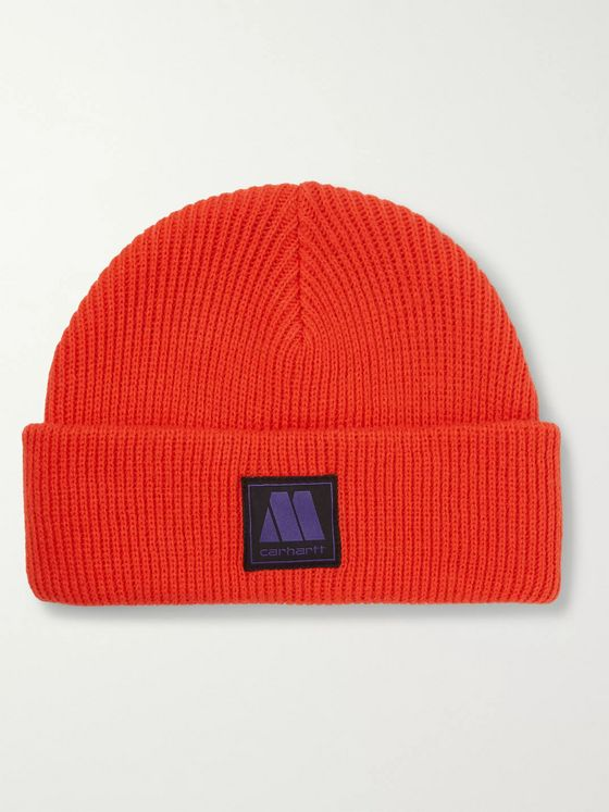 Carhartt WIP + Motown Records Marvin Logo-Appliquéd Ribbed-Knit Beanie