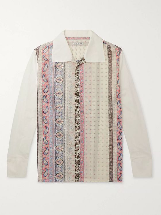 Our Legacy Soul Paisley-Print Cotton-Voile Shirt