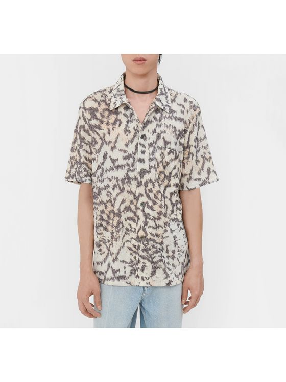 Our Legacy Tiger-Print Woven Shirt