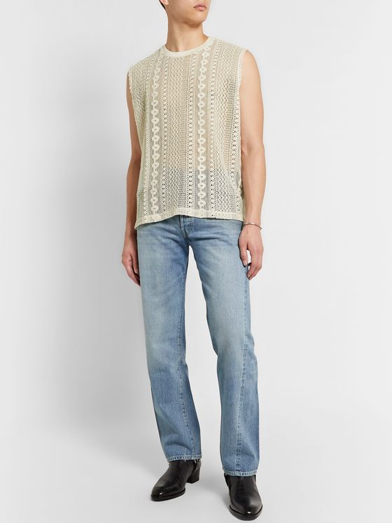 Our Legacy Crochet-Knit Cotton-Blend Tank Top