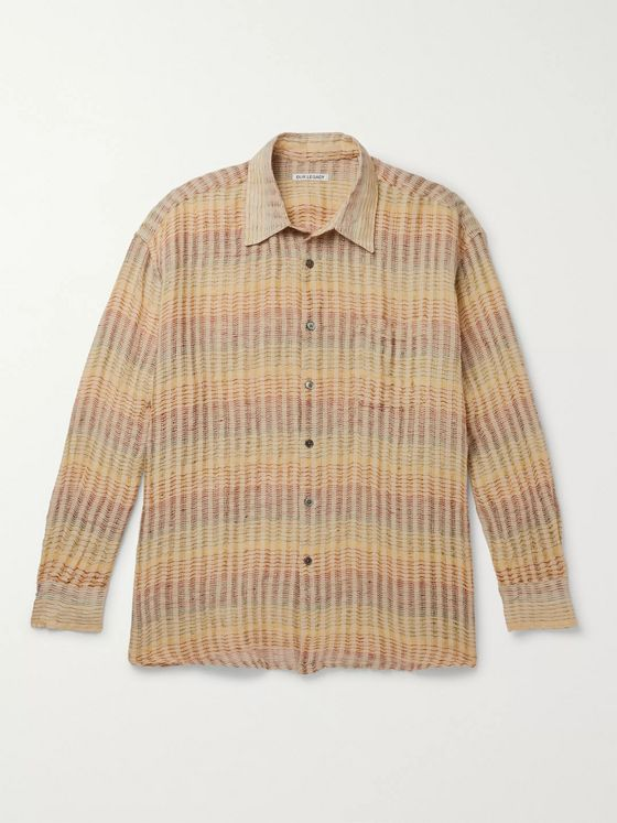 Our Legacy Borrowed Oversized Checked Linen Shirt
