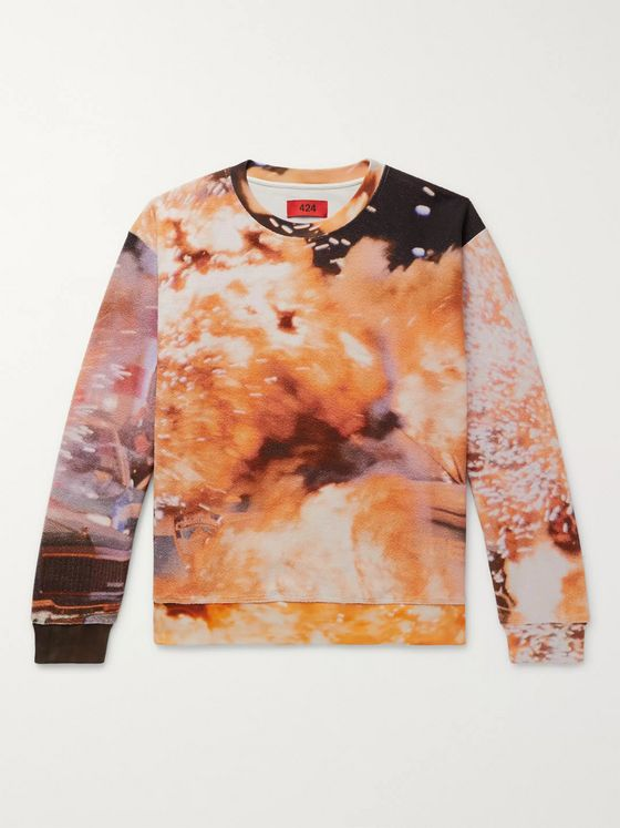 424 Explosion Printed Cotton-Terry Sweatshirt