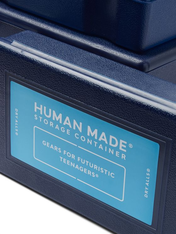 Human Made 4 Pack of Logo-Print Plastic Containers