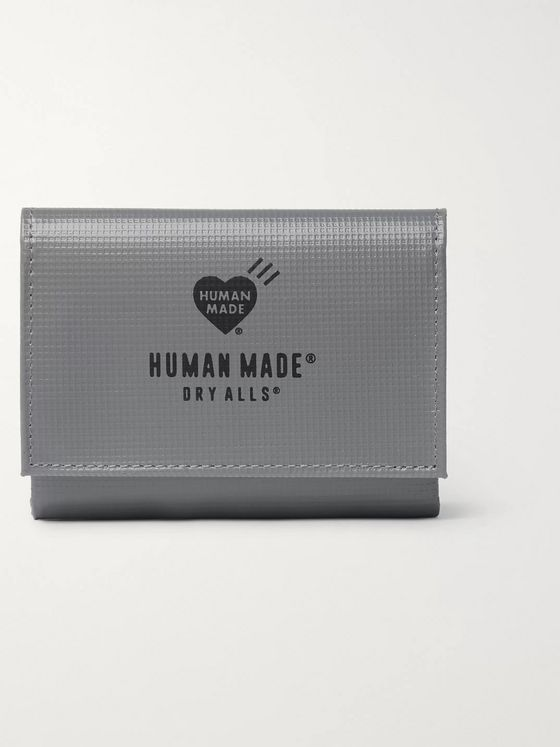 Human Made Logo-Print Embossed-PVC Wallet